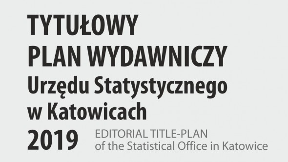 Editorial title-plan of the Statistical Office in Katowice 2019